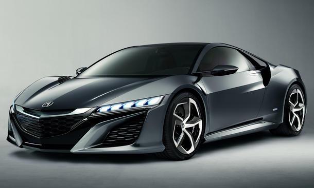 Honda NSX Concept Detroit Auto Show 2013 Hybrid Mittelmotor V6