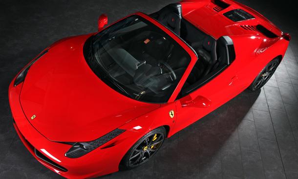 Capristo Ferrari 458 Spider Tuning Motorraum Motor-Abdeckung Glas