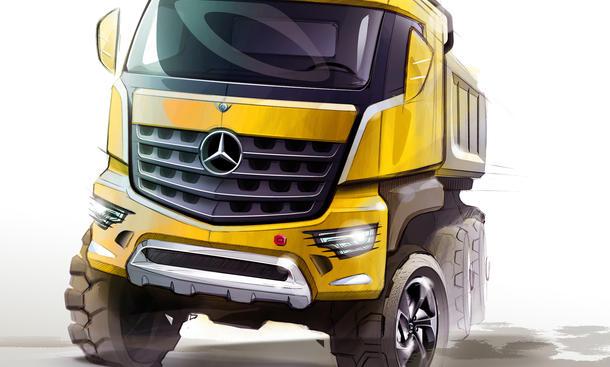 Mercedes Arocs 2013 Truck Lkw Kipplaster Baustelle