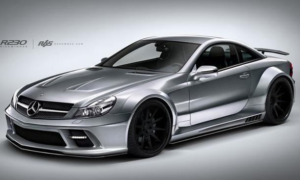 Mercedes SL W230, Renown, Tuning, Verbreiterung, Sidewinder