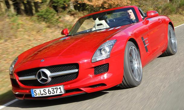 Mercedes SLS AMG Roadster Vergleich Eckdaten