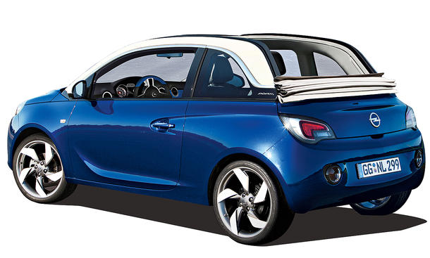 opel adam cabrio 2014 adam sky mit faltdach f r. Black Bedroom Furniture Sets. Home Design Ideas