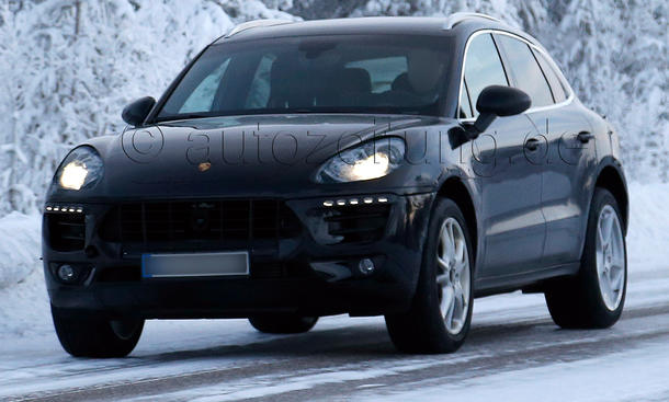 Porsche Macan 2014 Erlkönig Kompakt-SUV Testfahrt Prototyp Winter