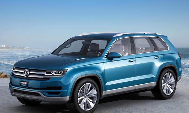 VW CrossBlue Detroit Auto Show 2013 SUV Concept Tiguan XL