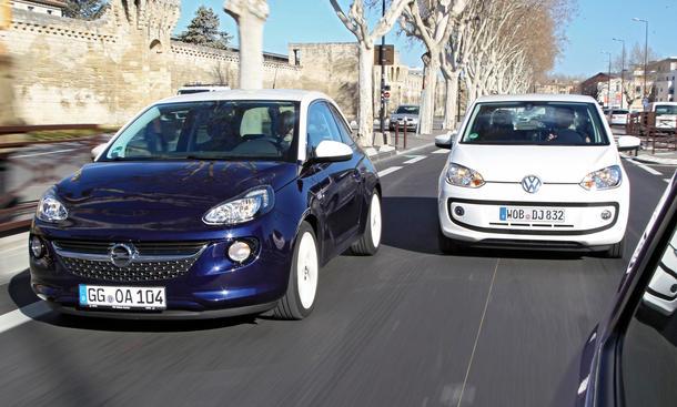 Bilder Opel Adam VW Up! 2013 Vergleich