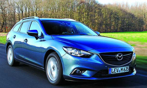 Bilder Mazda 6 Kombi 2.2 Skyactiv-D 2013 Vergleich Mittelklasse Front