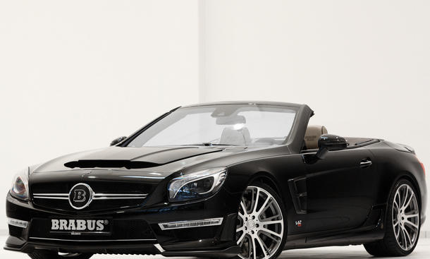Brabus 800 Roadster Mercedes SL 65 AMG Tuning Genfer Autosalon 2013 Front-Seite Studio