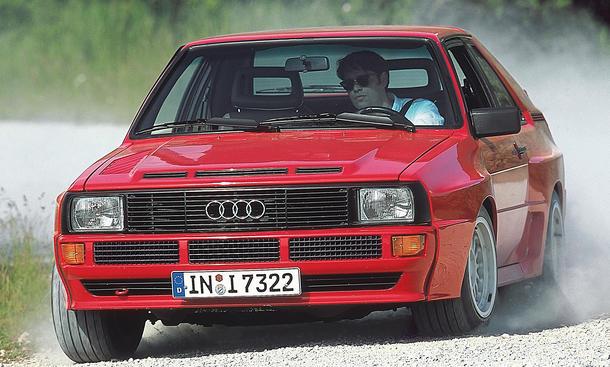 Fahrbericht Audi Sport quattro Classic Cars Schotter-Pisten