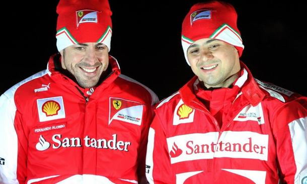 Formel 1 2013 Ferrari Rennwagen F138 rote Göttin Präsentation Vorstellung Königsklasse Motorsport