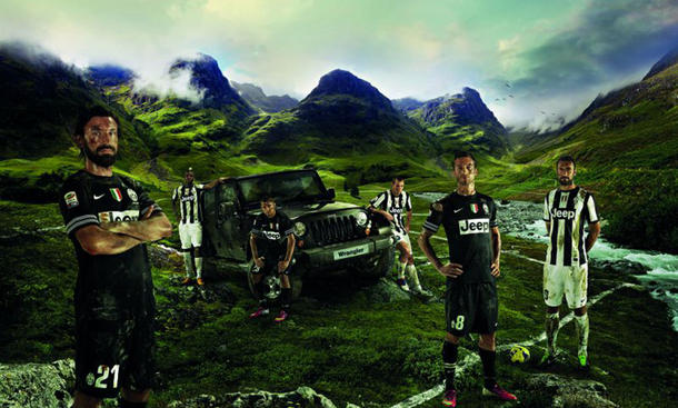 Jeep Juventus Turin Werbung PR-Aktion 2013 Geländewagen Höhen-Challenge