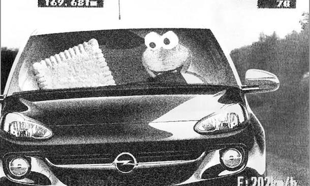 Leibniz-Keks Krümelmonster Erpressung Opel Adam Blitzer-Foto Flucht