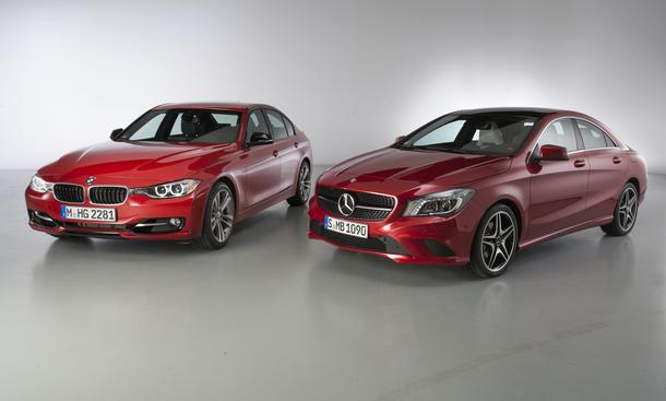 Mercedes CLA BMW 3er Vergleich Mittelklasse Bilder