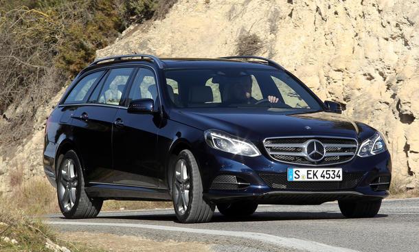 Mercedes E Klasse Facelift 2013 Kombi E 400 T Modell im Fahrbericht