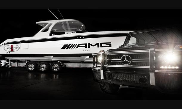 Mercedes G 63 AMG Superyacht Cigarette 42' Huntress Kooperation