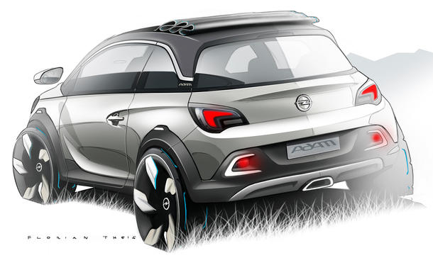 opel adam rocks faltdach cabrio mit offroad flair f r genf 2013 bild 3. Black Bedroom Furniture Sets. Home Design Ideas