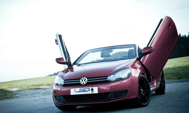 vw golf vi cabrio 2013 auff llige fl gelt ren von tuner. Black Bedroom Furniture Sets. Home Design Ideas