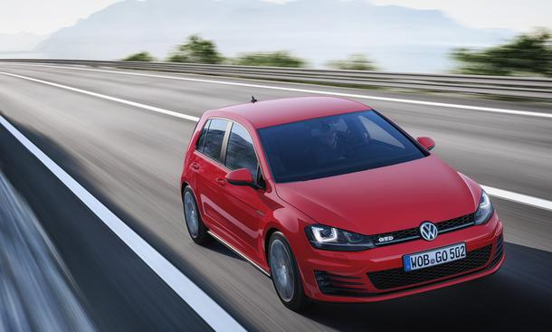 VW Golf GTD 2013 Genfer Autosalon Premiere Kompakt-Sportler Fahrbild Front