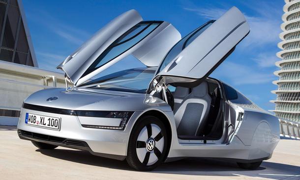 VW XL1 Diesel-Hybrid Elektro Genfer Autosalon 2013 Carbon Leichtbau