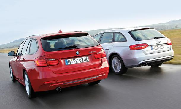 Vergleich Mittelklasse Audi A4 Avant 2.0 TDI BMW 320d Touring Kombis