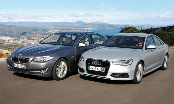 Vergleich Audi A6 3.0 TDI quattro BMW 530d Markenvergleich Obere Mittelklasse