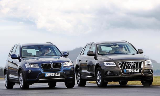 Vergleich SUV: Audi Q5 2.0 TDI quattro gegen BMW X3 xdrive20d |