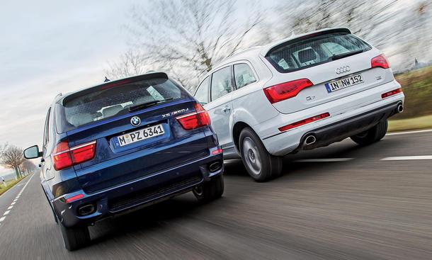 Vergleich SUV 2013 Audi Q7 4.2 TDI quattro BMW X5 M50d