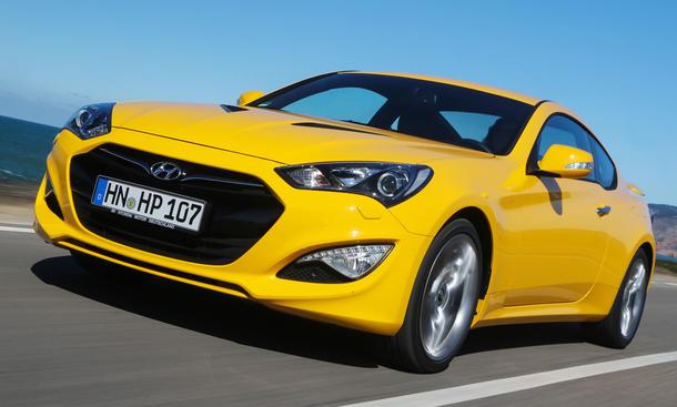 Bilder Hyundai Genesis Coupé 2013 Mittelklasse Probefahrt Facelift Front