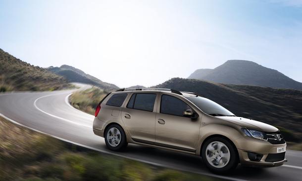 Dacia Logan MCV Kombi Genfer Autosalon 2013 Premiere Fahrbild Seite