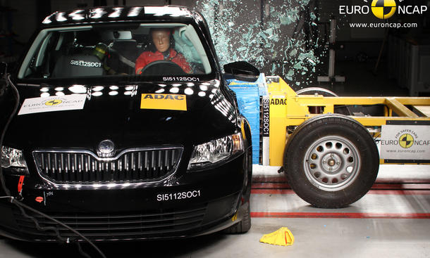 Euro NCAP Crashtest Bewertung März Skoda Octavia 2013