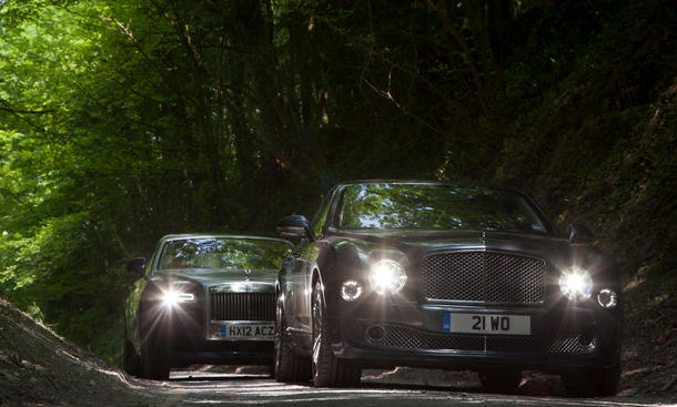Faszination Luxus-Limousine Bentley Mulsanne Rolls-Royce Ghost EWB