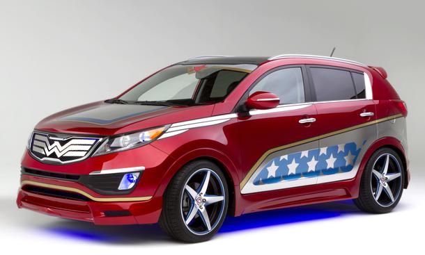 Kia Sportage Concept Wonder Woman Kompakt-SUV New York Auto Show 2013 We Can Be Heroes