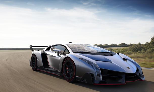 Lamborghini Veneno Supersportwagen Genfer Autosalon 2013 Front