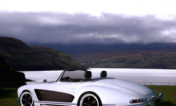 Mercedes 300 SL W 198 Roadster Tuning Atelier Valdeig Widebody Breitbau