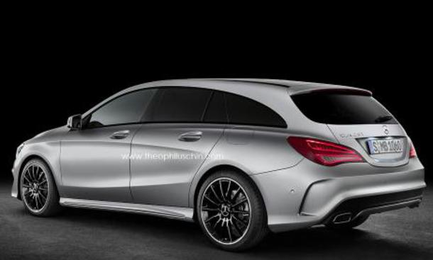 Mercedes CLA Shooting Brake Kombi Kompaktklasse Langversion Entwurf