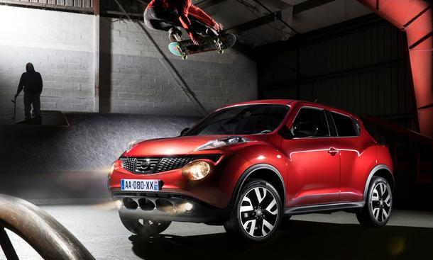Nissan Juke N-Tec 2013 Sondermodell Infotainment-System Kompakt-SUV Front, seitlich