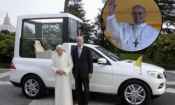 Papamobil Neuer Papst Franziskus I. Daimler Mercedes ML