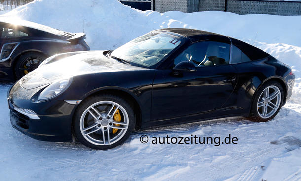 Porsche 911 Targa 2013 2014 Baureihe 991 Erlkönig