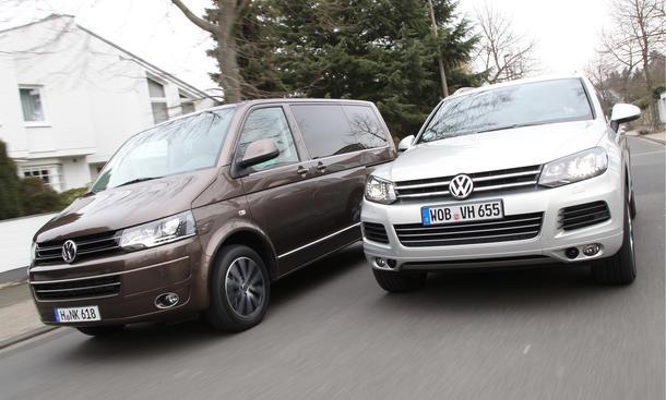 SUV Van Vergleich VW T5 Multivan 2.0 TDI Touareg 3.0 V6 TDI BlueMotion Technology