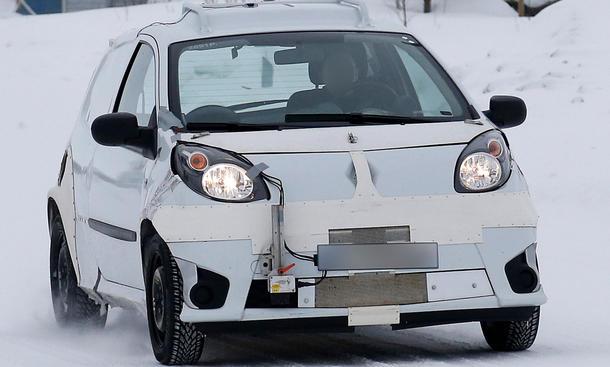 Smart Forfour 2014 Mule Erlkönig Kleinwagen Viersitzer Front