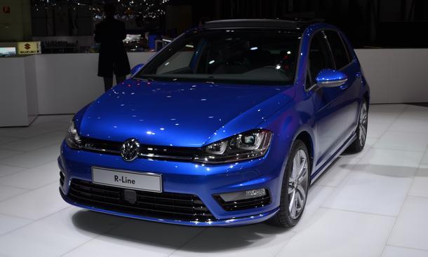 VW Golf VII R-Line Sportpaket Genfer Autosalon 2013 Front