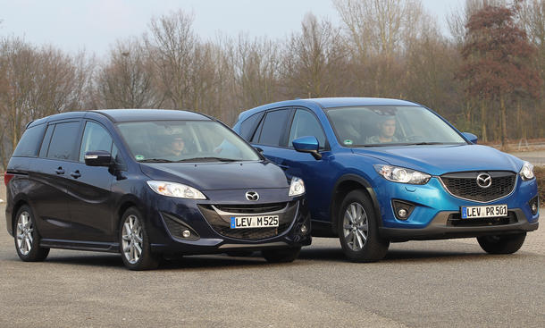 Vergleich Mazda CX-5 Skyactive Mazda 5 2.0 DISI