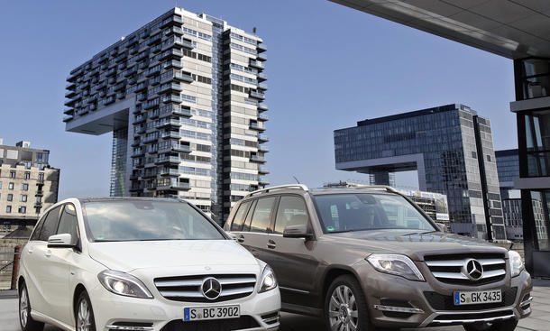 Vergleich Mercedes GLK 200 CDI B 200 CDI SUV Van