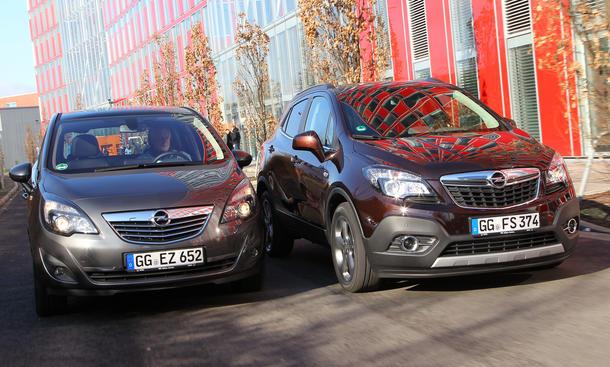 Vergleich SUV Van Opel Mokka Meriva