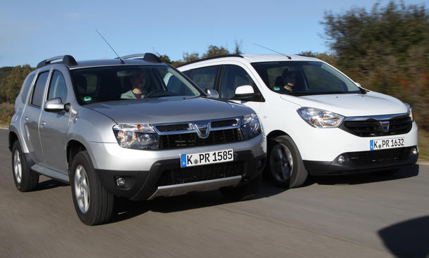 Vergleich SUV Van Dacia Duster 1.6 16V Lodgy TCe 115