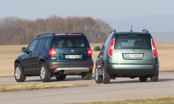 Vergleich SUV Van Skoda Yeti Roomster 1-2 TSI Fahrkomfort