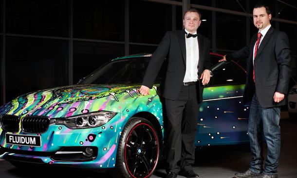 BMW 3er F30 Art Car Fluidum Andy Reiben 2013 Video