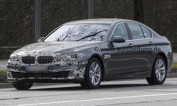 Erlkönig BMW 5er Facelift 2013 Neuheiten