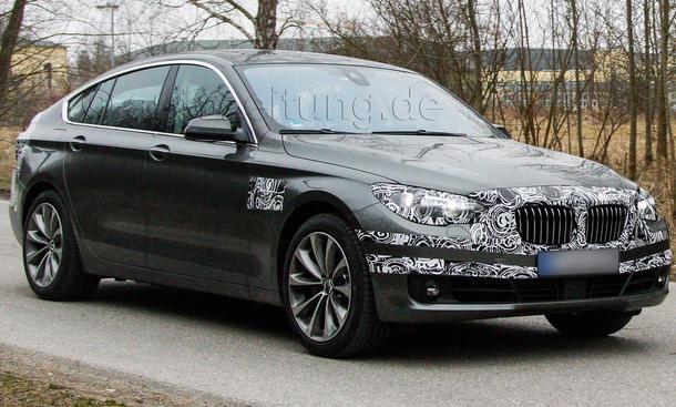BMW 5er GT 2013 Erlkoenig Facelift Gran Turismo F07 LCI
