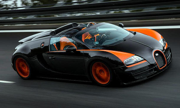 bugatti veyron grand sport vitesse: geschwindigkeitsrekord 2013 |
