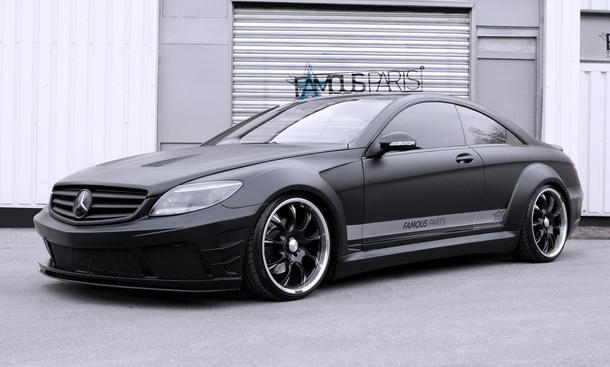famous parts mercedes cl 500 black matte edition body kit. Black Bedroom Furniture Sets. Home Design Ideas